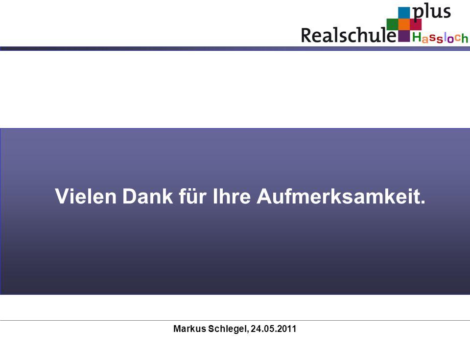 Markus Schlegel, 24.05.2011 Vielen Dank für Ihre Aufmerksamkeit.