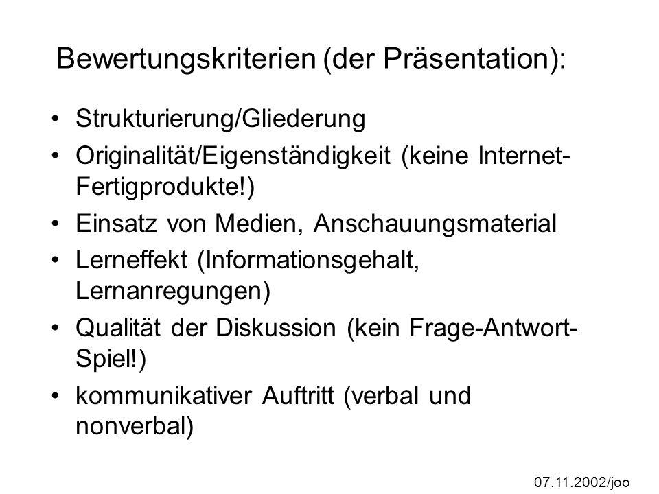 07.11.2002/joo Gruppenarbeit: Paul im Geschäft (3er-Gruppen) Kriterien einer guten Textadaption herausarbeiten Welche Schreibintentionen sind bei dies