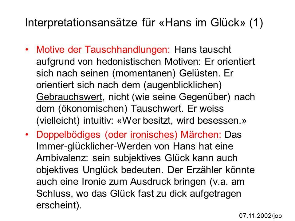 07.11.2002/joo Bewertungskriterien (der Präsentation): Strukturierung/Gliederung Originalität/Eigenständigkeit (keine Internet- Fertigprodukte!) Einsa