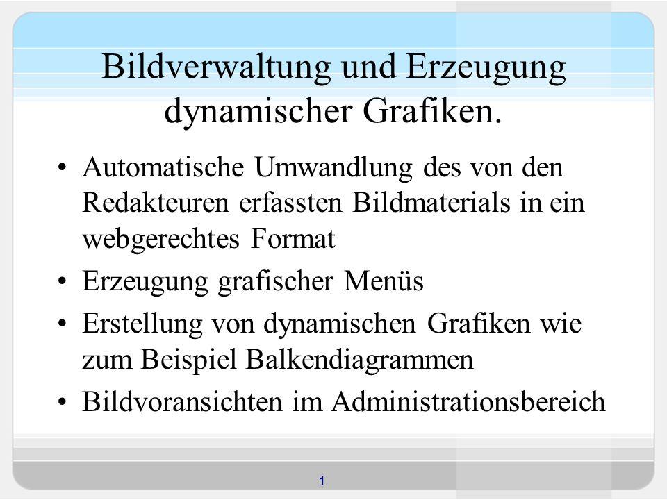 1 Bildverwaltung und Erzeugung dynamischer Grafiken.