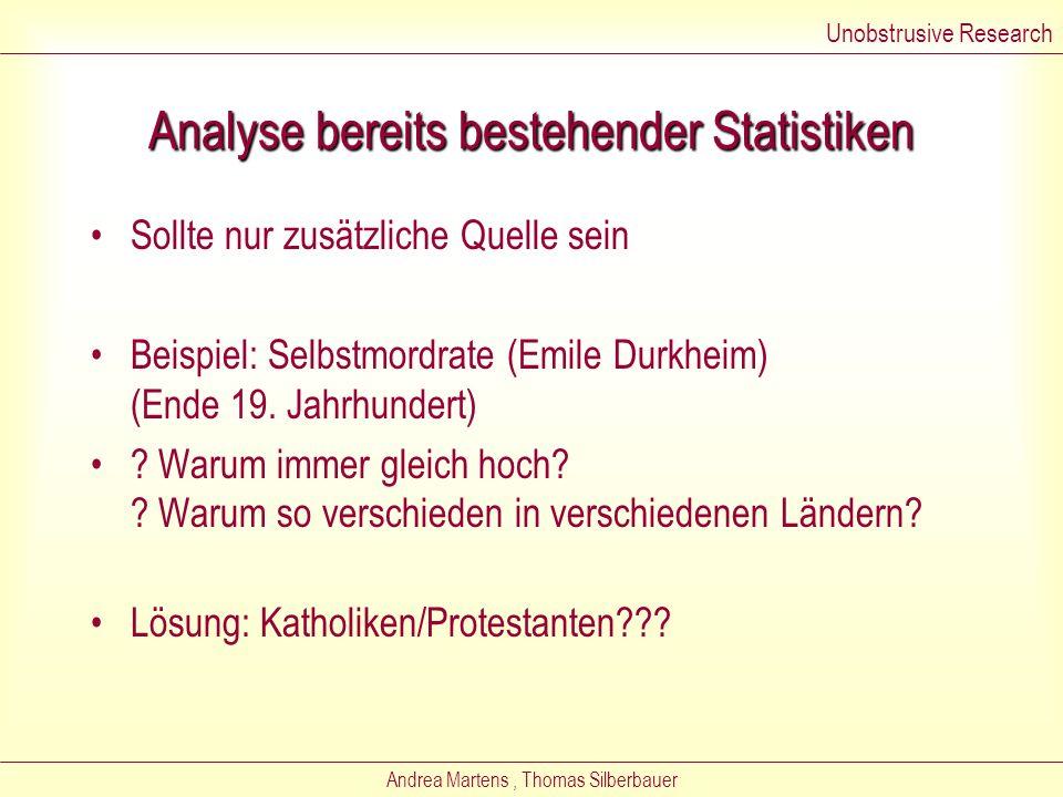Andrea Martens, Thomas Silberbauer Stärken und Schwächen der Inhaltsanalyse Stärken –Günstig –Schnell durchführmbar –Sicher – man kann Untersuchung ei