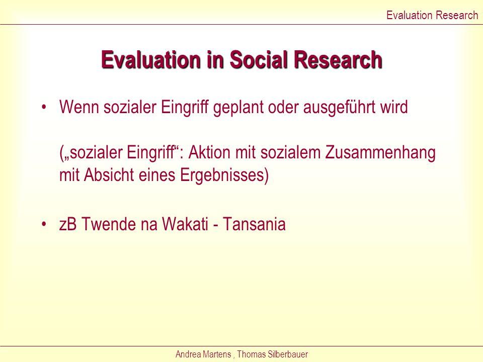 Andrea Martens, Thomas Silberbauer Evaluation Research - Evaluation Evaluation Research
