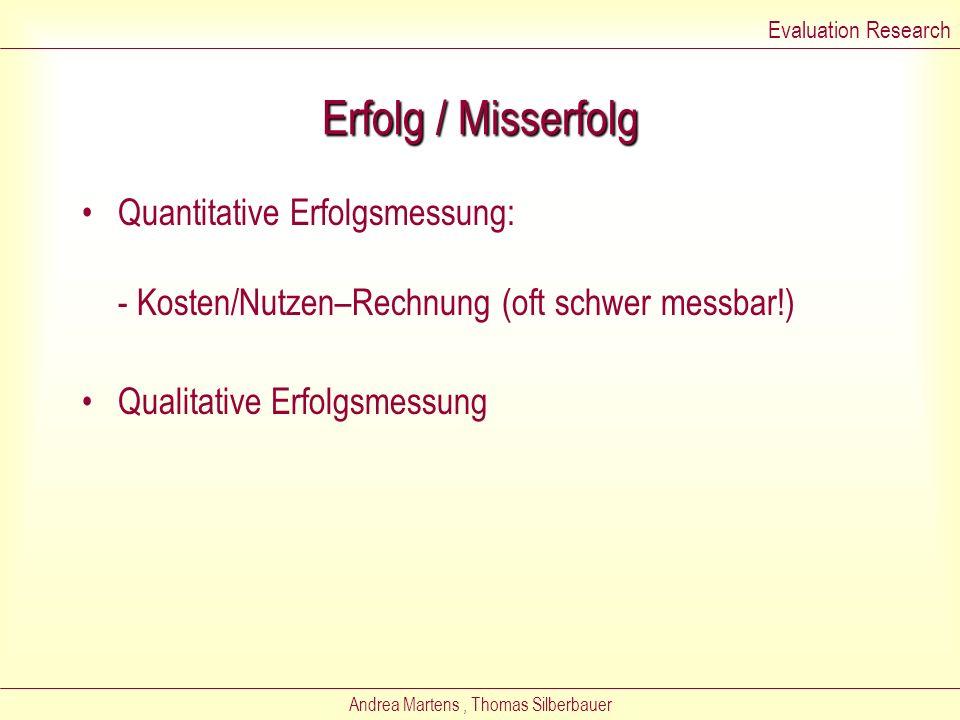Andrea Martens, Thomas Silberbauer Arten von Untersuchungsdesigns Experiment (Forschungsgruppe – Kontrollgruppe) Quasi-experimentelles Untersuchungsde