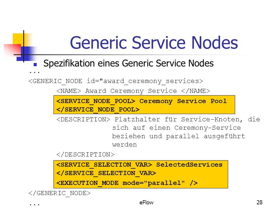 eFlow28 Generic Service Nodes Spezifikation eines Generic Service Nodes...