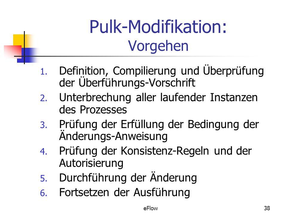 eFlow38 Pulk-Modifikation: Vorgehen 1.