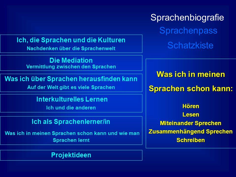 Sprachenbiografie Sprachenpass Schatzkiste Der Sprachenpass wird während des letzten Pflichtschuljahres verwendet.