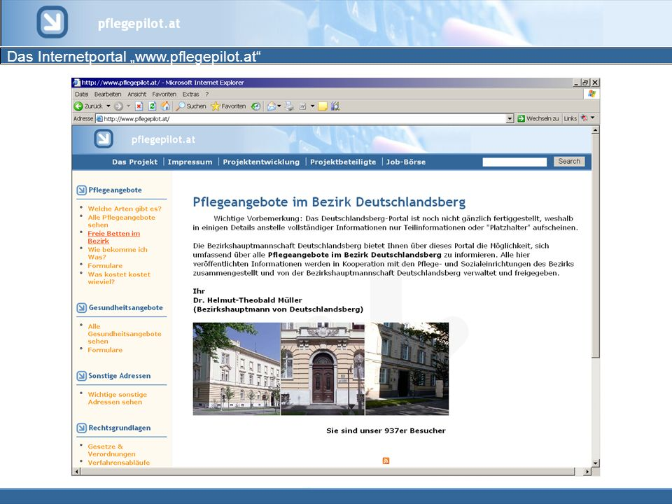 Das Internetportal www.pflegepilot.at