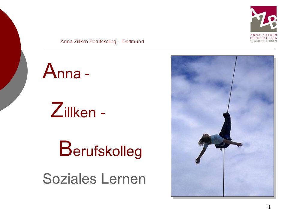 1 Anna-Zillken-Berufskolleg - Dortmund A nna - Z illken - B erufskolleg Soziales Lernen