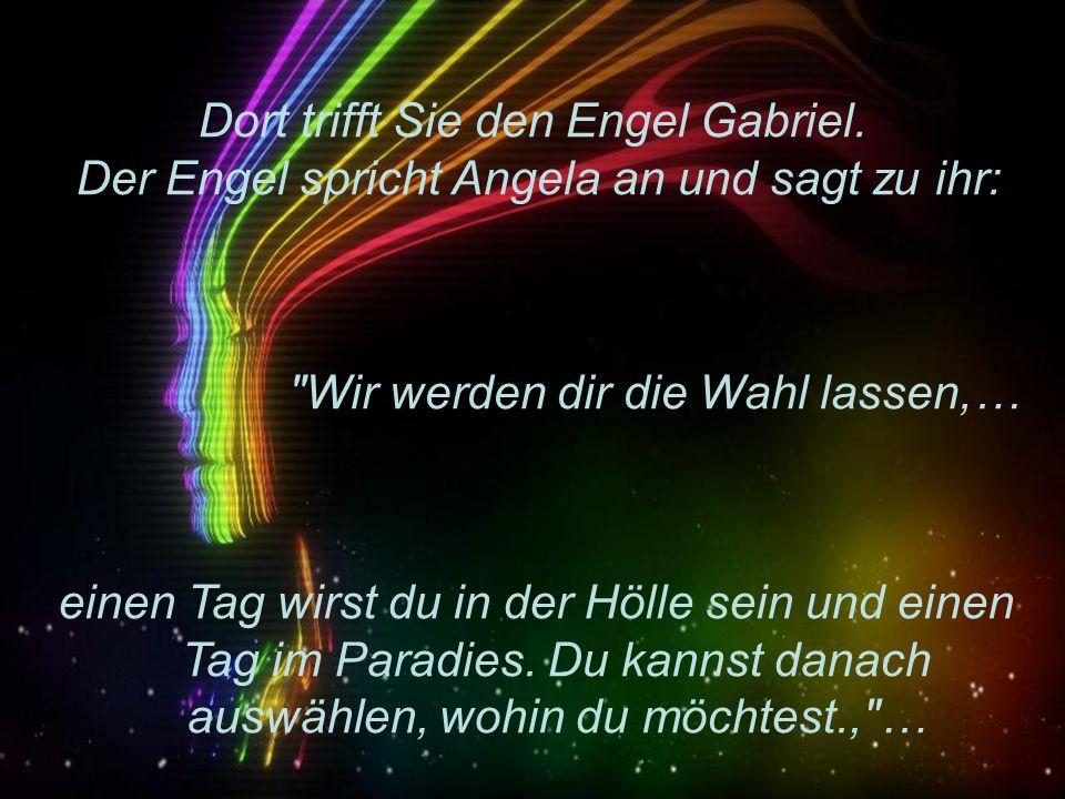 Angela Merkel ist überfahren worden und kommt in den Himmel. Andrea Jürgens : Ich zeige dir mein Paradies..