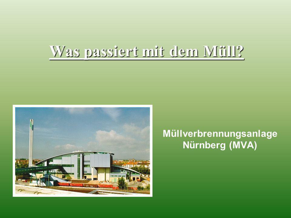 Müllverbrennungsanlage Nürnberg (MVA) Was passiert mit dem Müll?