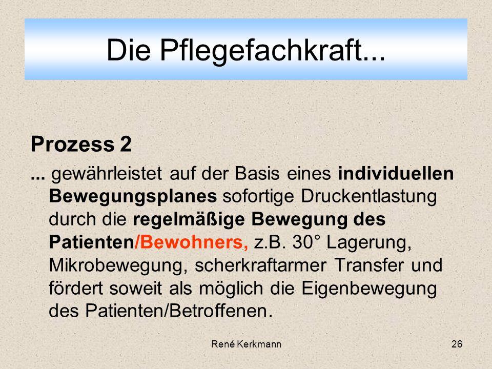 26 Prozess 2... gewährleistet auf der Basis eines individuellen Bewegungsplanes sofortige Druckentlastung durch die regelmäßige Bewegung des Patienten