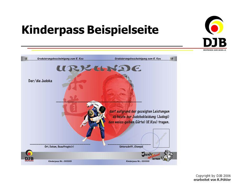 Copyright by DJB 2006 erarbeitet von R.Pöhler Kinderpass Beispielseite