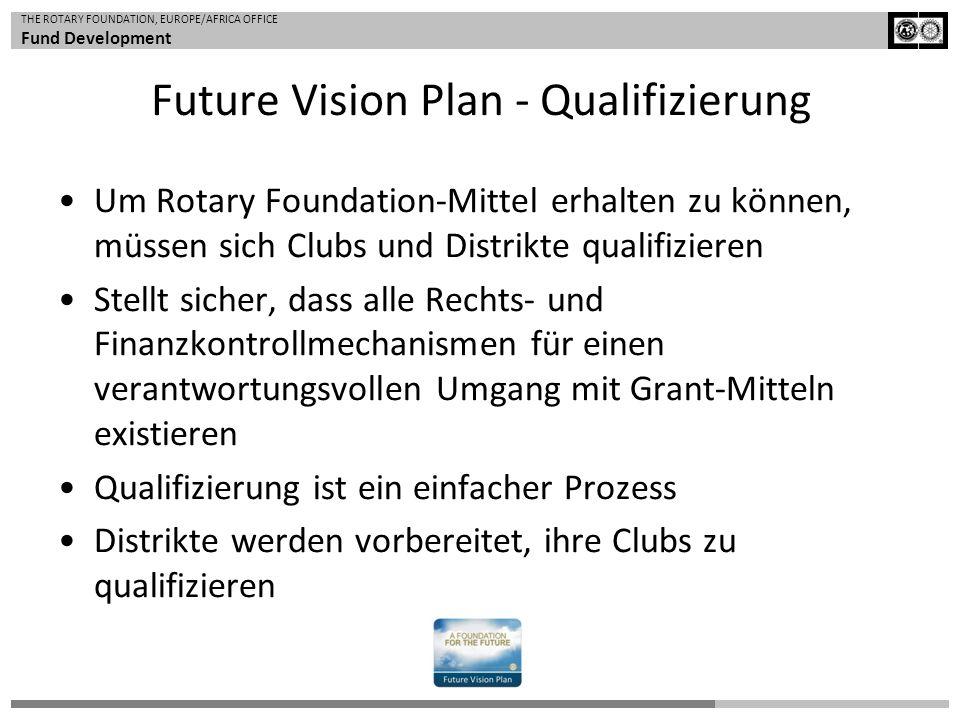 THE ROTARY FOUNDATION, EUROPE/AFRICA OFFICE Fund Development Um Rotary Foundation-Mittel erhalten zu können, müssen sich Clubs und Distrikte qualifizi