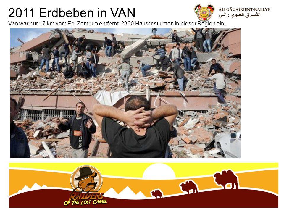 2011 Erdbeben in VAN Van war nur 17 km vom Epi Zentrum entfernt.