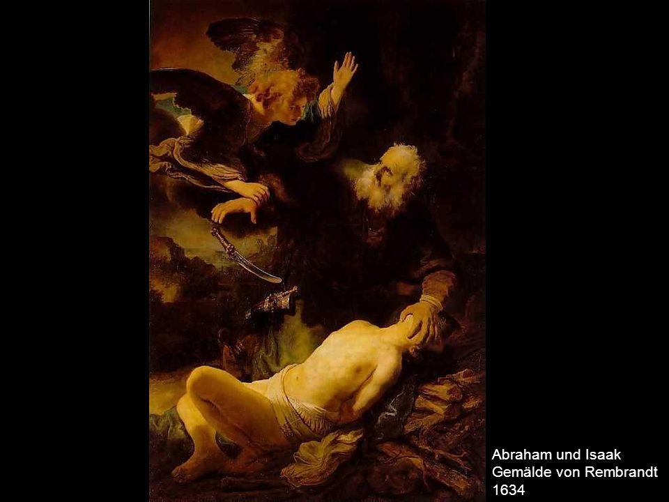 Abraham und Isaak Gemälde von Rembrandt 1634