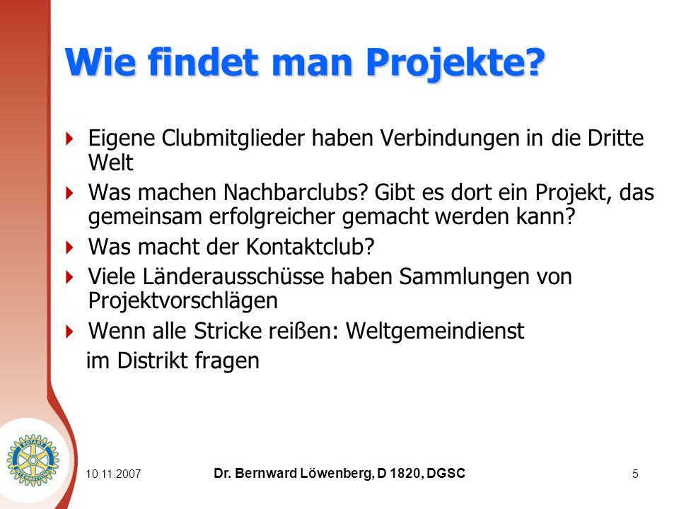 10.11.20075 Wie findet man Projekte.
