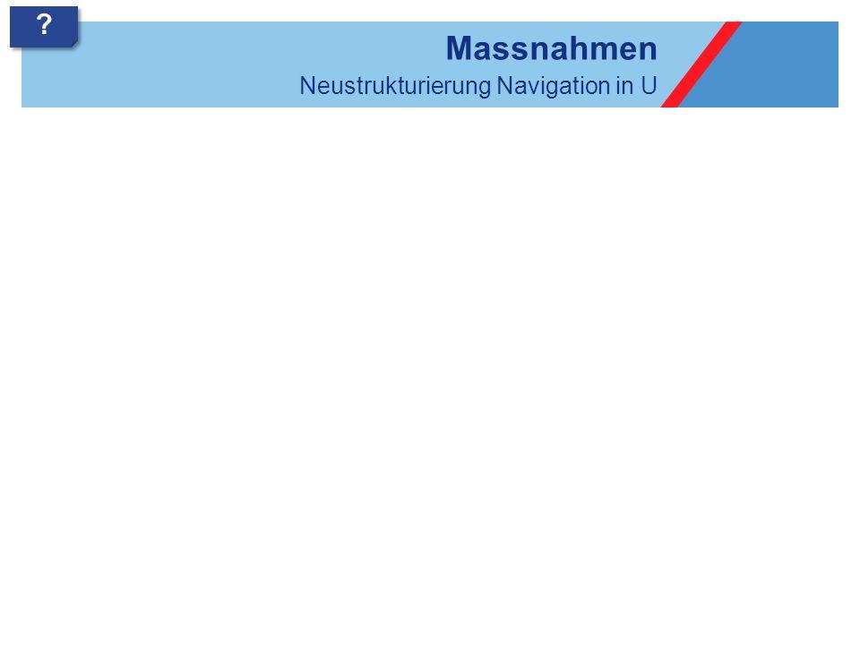 Bedürfnisnavigation 2.0 Massnahmen 3 3 .