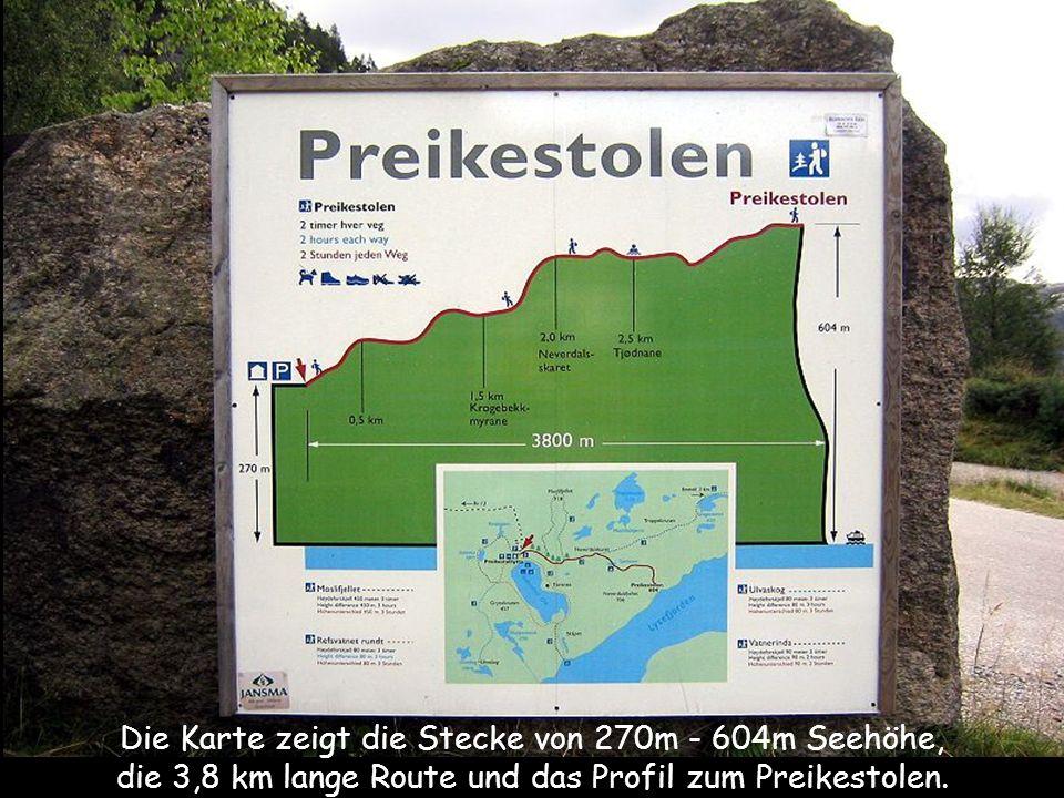 Preikestolen Der Preikestolen (norw. für Kanzel oder wörtlich Predigtstuhl) ist eine natürliche Felsplattform (Felskanzel) in der norwegischen Provinz