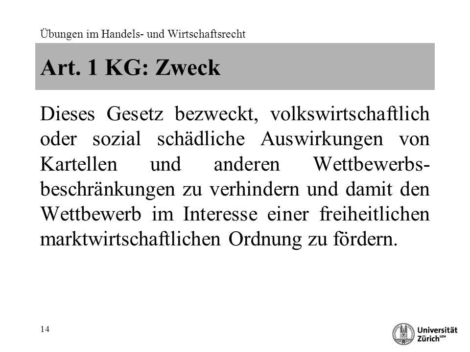 Übungen im Handels- und Wirtschaftsrecht 14 Art.