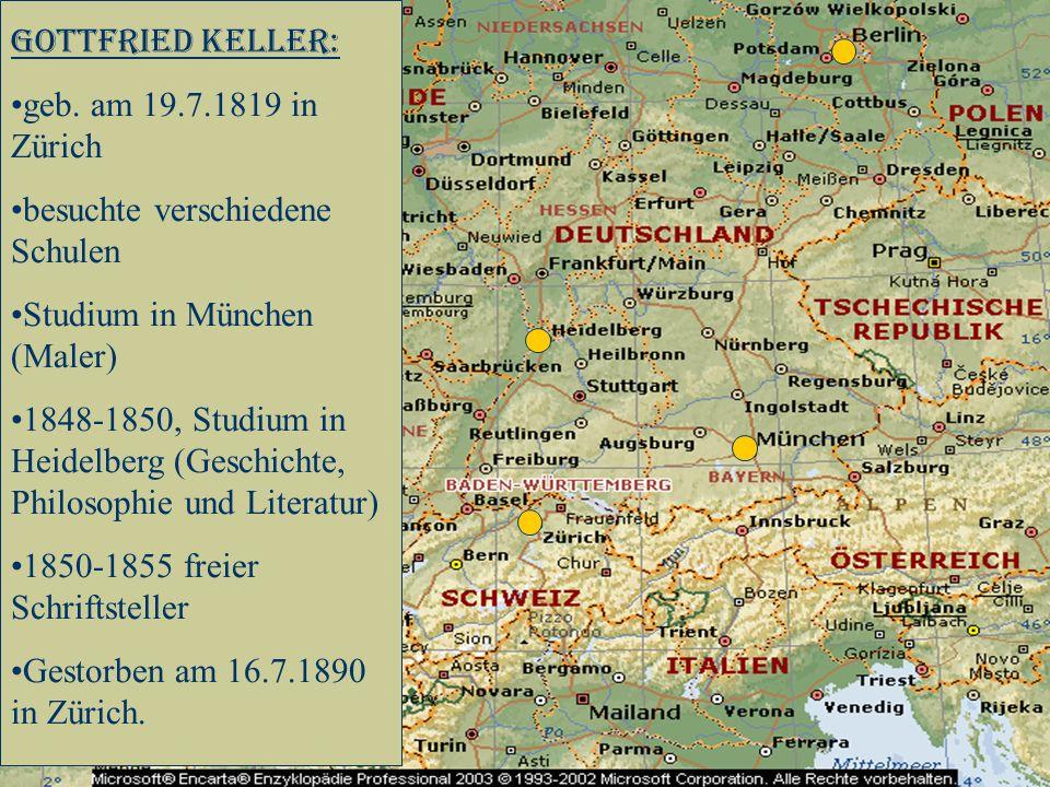 Gottfried Keller: geb.