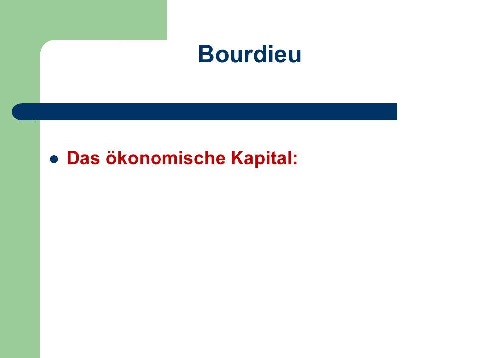 Bourdieu Das ökonomische Kapital: