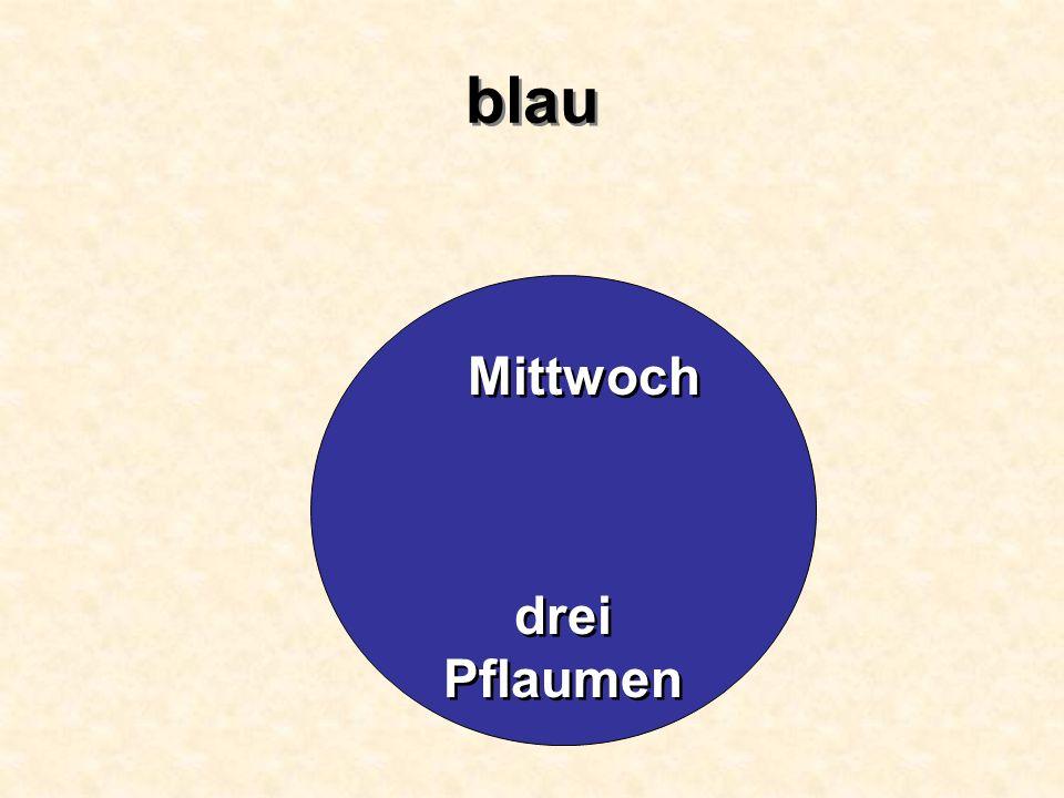 blau Mittwoch drei Pflaumen