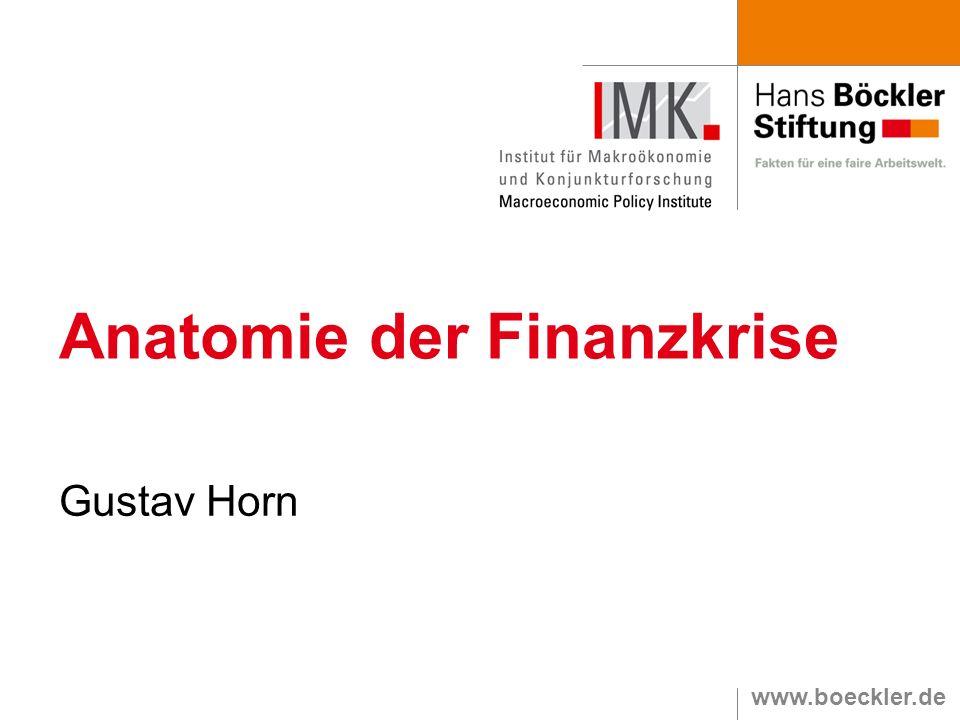 www.boeckler.de Anatomie der Finanzkrise Gustav Horn