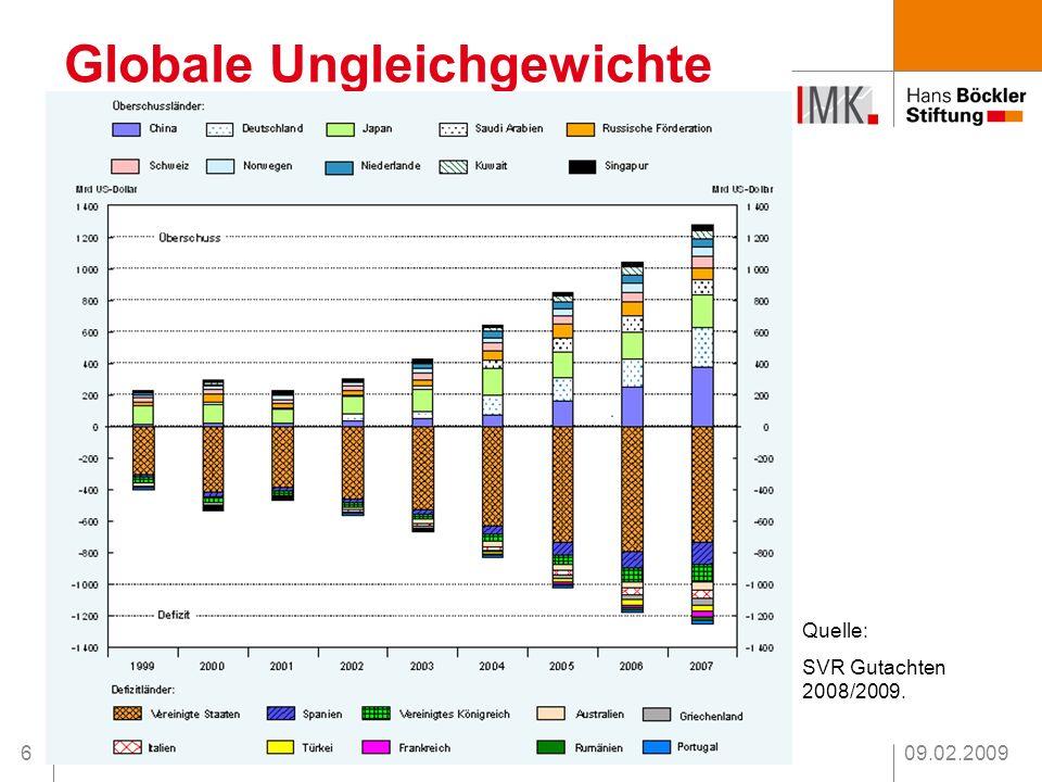 09.02.20097 Drei Thesen zur Lage Globale Ungleichgewichte Umverteilung Finanzmarktübersteigerungen Die Krise Was tun .