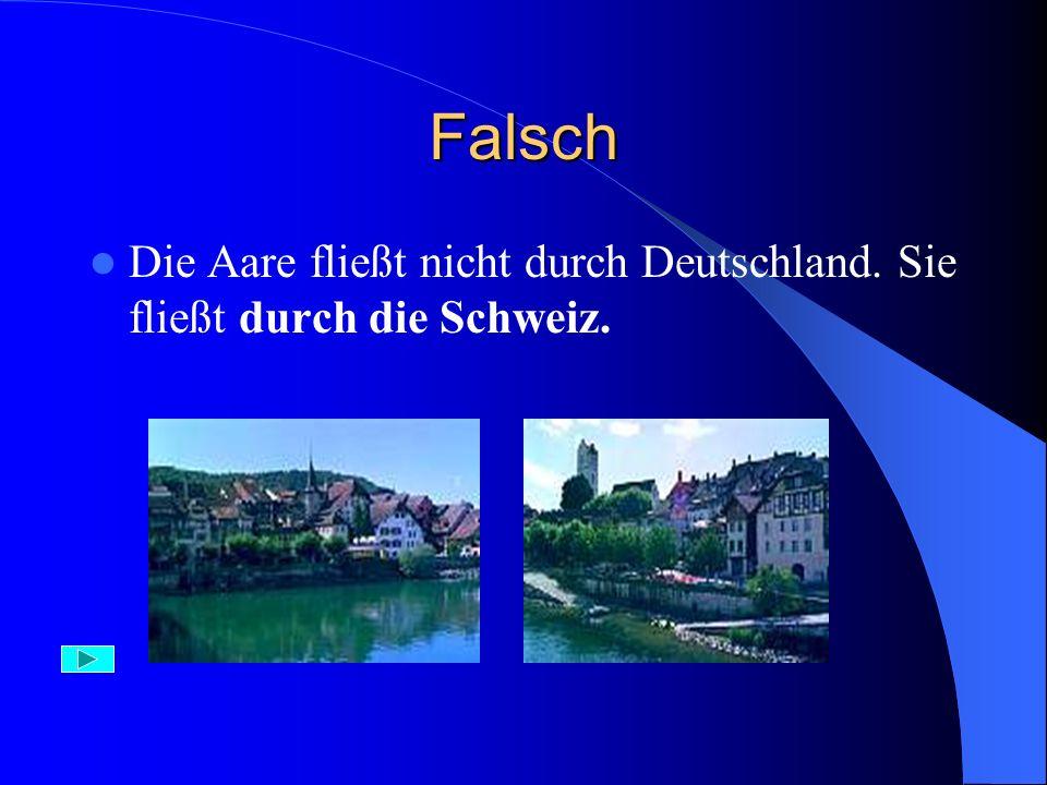 Aufgabe 7) Durch Deutschland fließen: A) die Donau, die Aare, der Rhein B) die Elbe, die Oder, der Rhein C) die Mur, die Donau, der Rhein