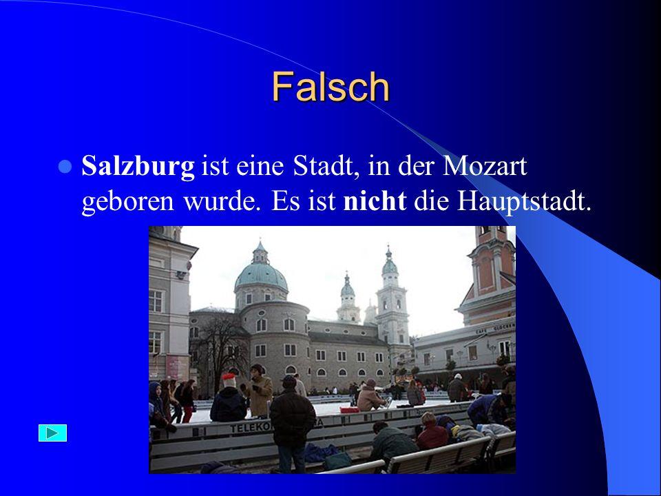 Falsch Wien – die Hauptstadt von Österrreich