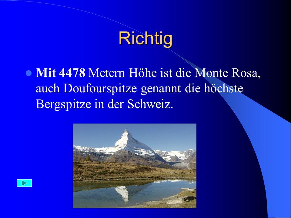 Falsch Der Glossglockner ist die höchste Bergspitze in Österreich.