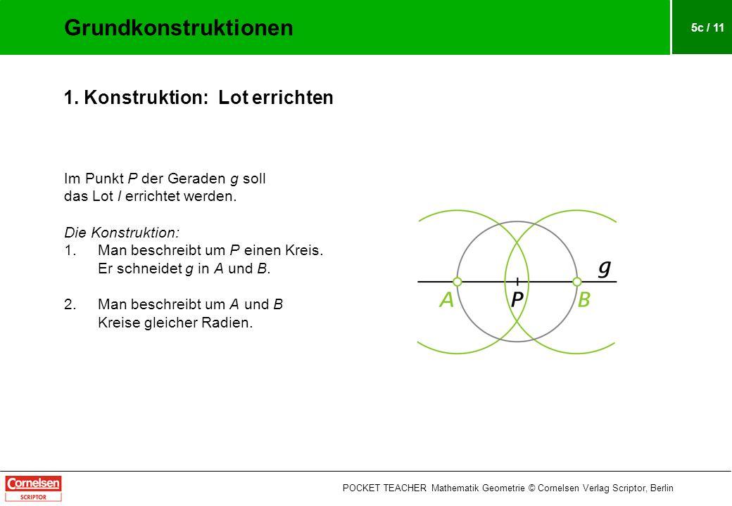 5c / 11 Im Punkt P der Geraden g soll das Lot l errichtet werden.