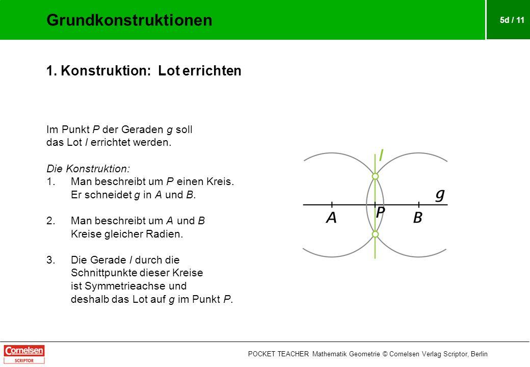 5d / 11 Im Punkt P der Geraden g soll das Lot l errichtet werden.