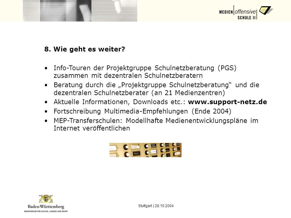 Stuttgart | 28.10.2004 8.Wie geht es weiter.