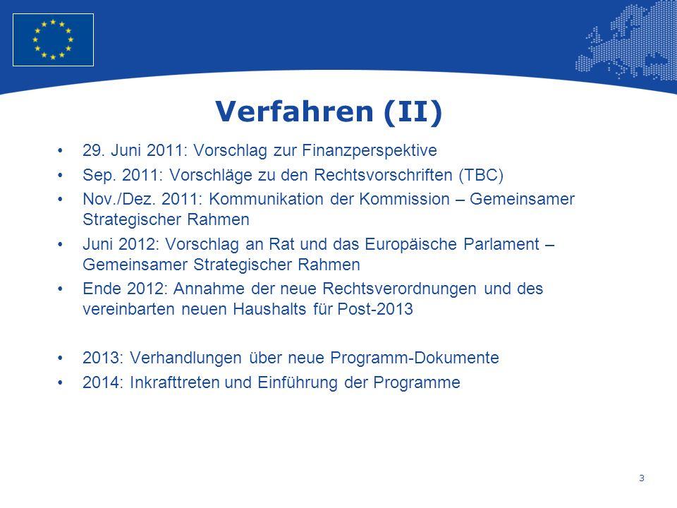 3 European Union Regional Policy – Employment, Social Affairs and Inclusion Verfahren (II) 29.