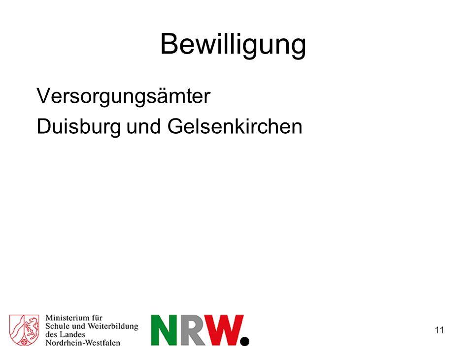 11 Bewilligung Versorgungsämter Duisburg und Gelsenkirchen