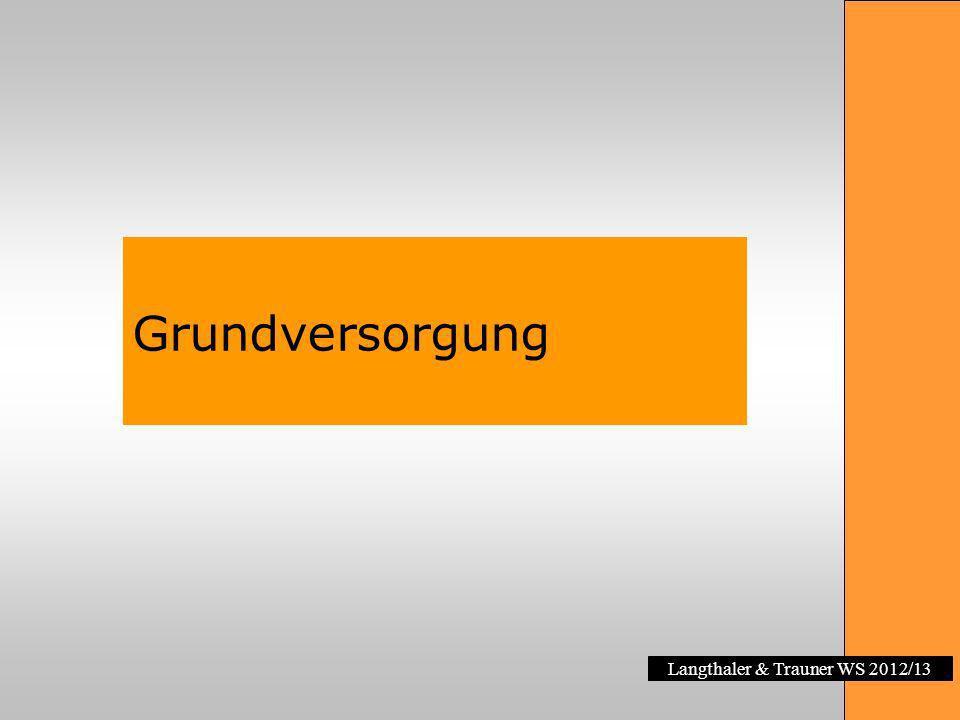 Langthaler & Trauner WS 2012/13 Grundversorgung Gesetzl.