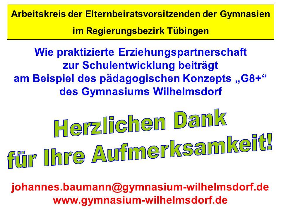 johannes.baumann@gymnasium-wilhelmsdorf.de www.gymnasium-wilhelmsdorf.de Arbeitskreis der Elternbeiratsvorsitzenden der Gymnasien im Regierungsbezirk