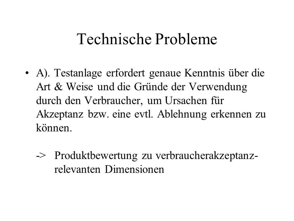 Technische Probleme A).