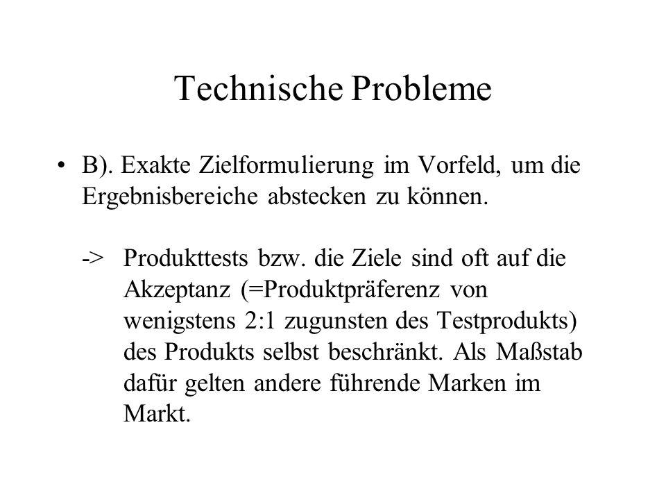 Technische Probleme B).