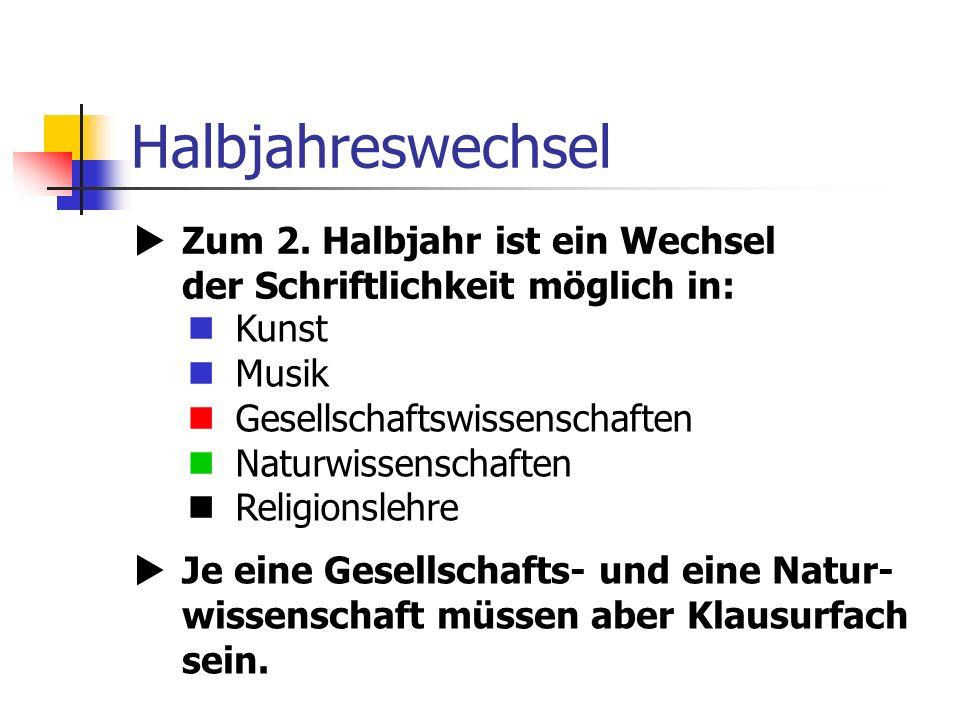 Halbjahreswechsel Zum 2.