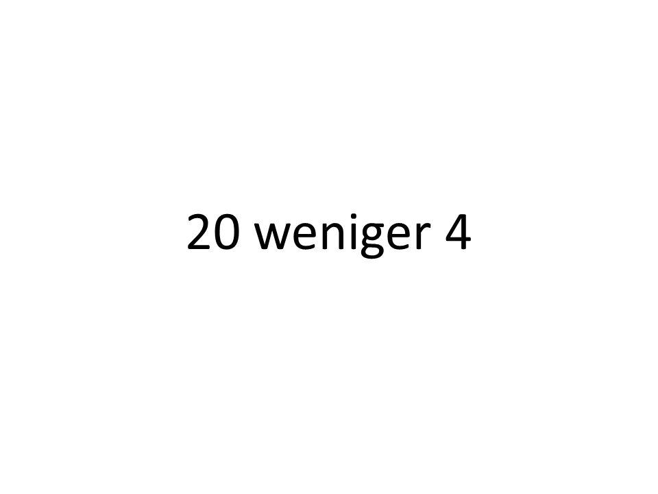 20 weniger 4