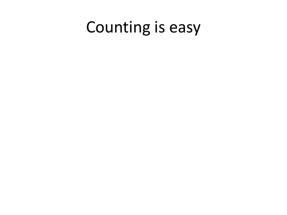 Counting is easy