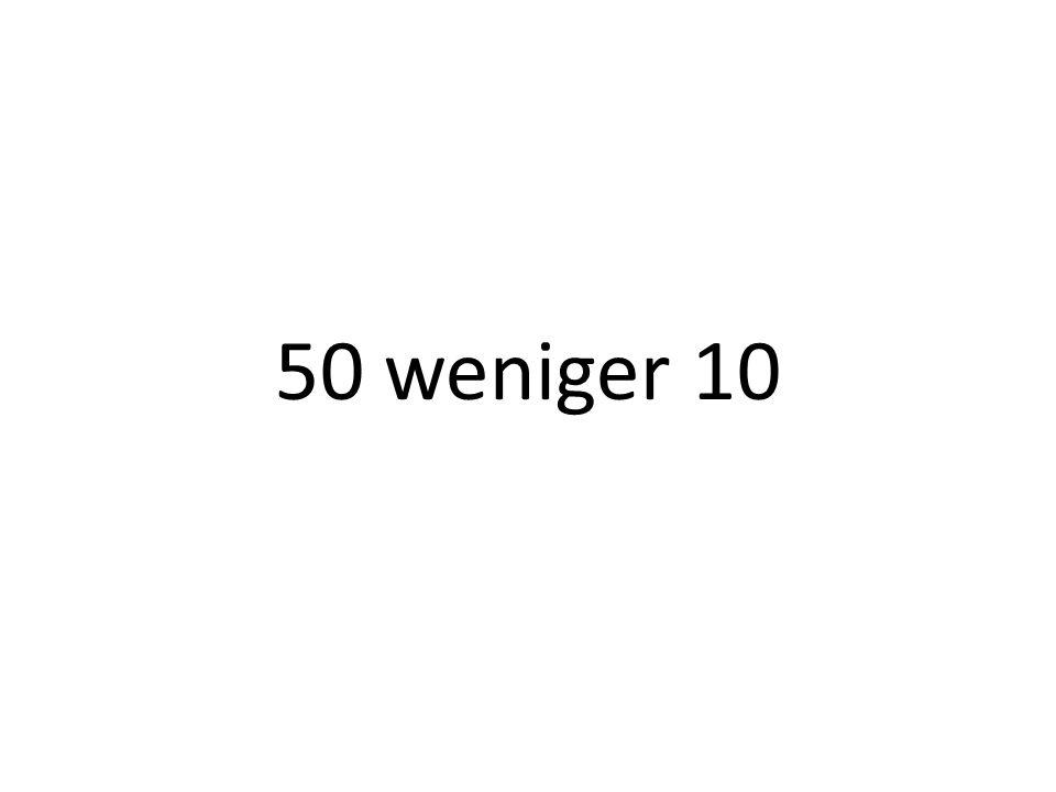 50 weniger 10