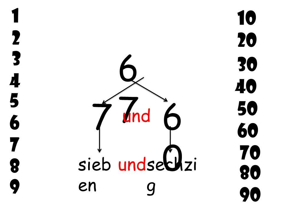 2 6 7 5 3 4 8 9 1 10 20 30 40 50 60 70 80 90 4949 4040 9 und neu n undvierzi g