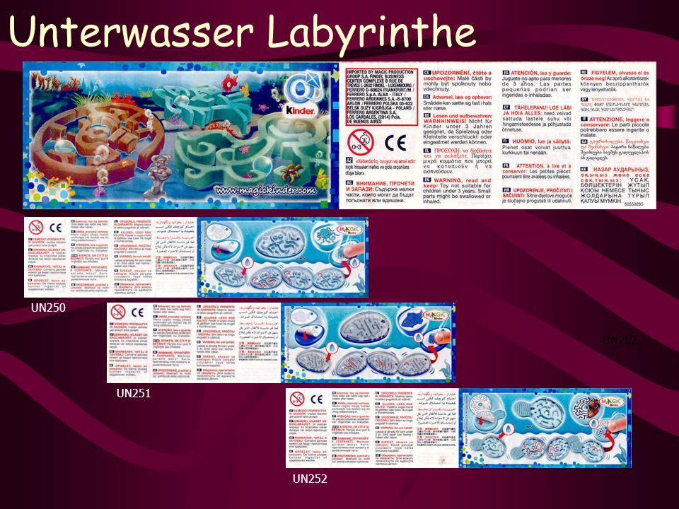 Unterwasser Labyrinthe UN252 UN250 UN251 UN252
