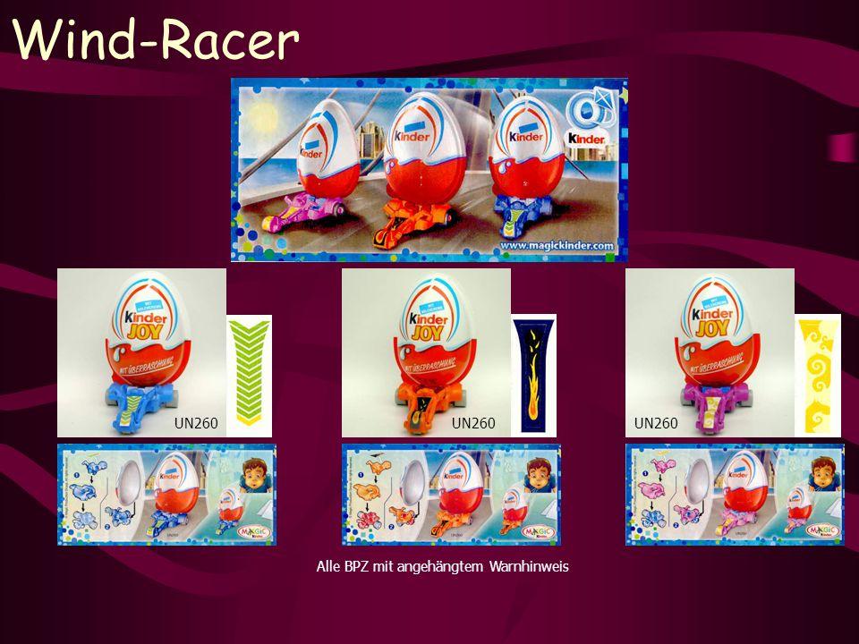 Wind-Racer UN260 Alle BPZ mit angehängtem Warnhinweis