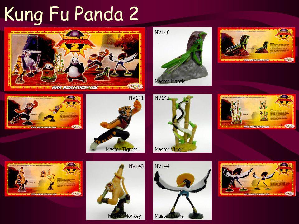 Kung Fu Panda 2 NV143 Master Monkey NV140 Master Crane NV142 Master Mantis Master Viper NV144 NV141 Master Tigress