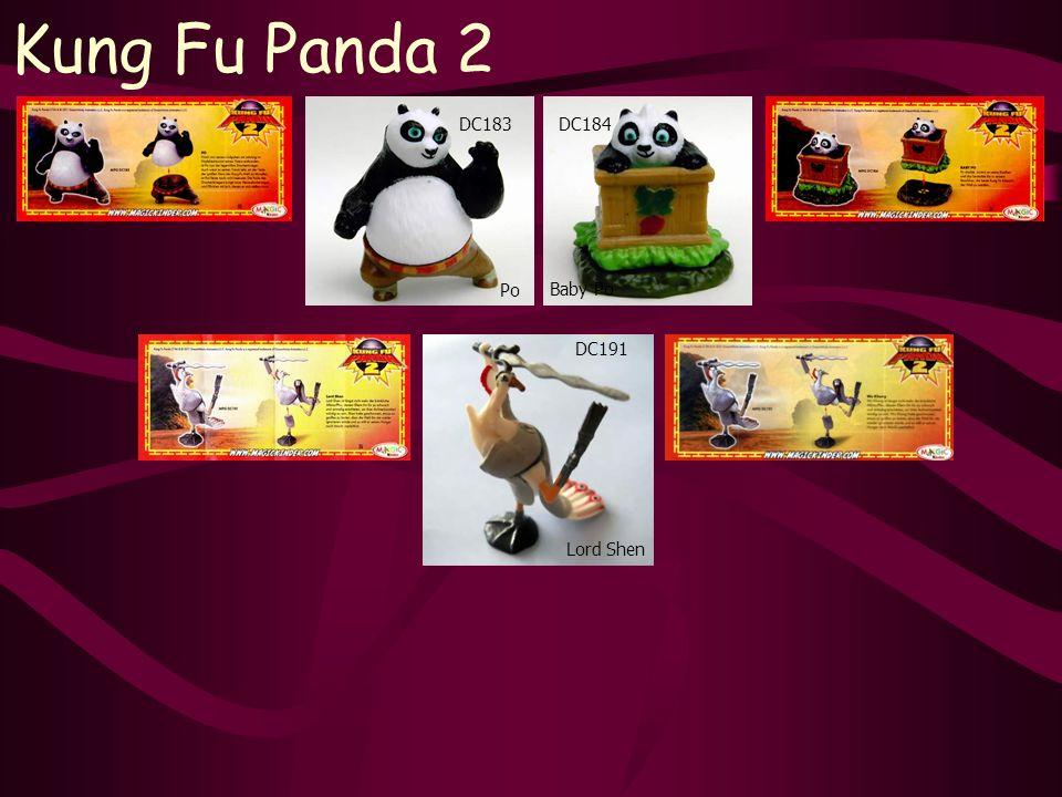 Lord Shen Kung Fu Panda 2 Po DC191 Baby Po DC184DC183