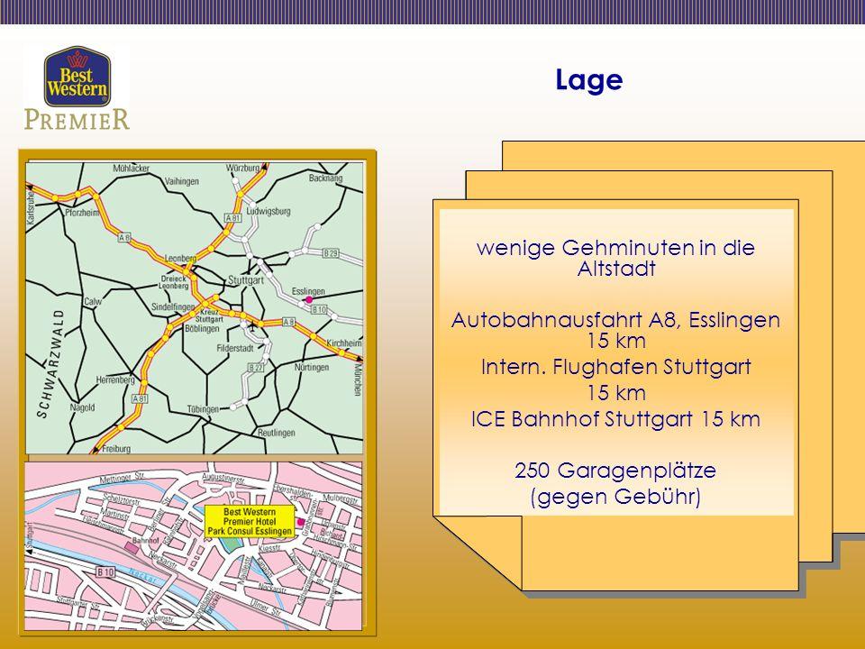 Lage wenige Gehminuten in die Altstadt Autobahnausfahrt A8, Esslingen 15 km Intern.